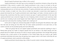 Help with research paper about capital punishment?